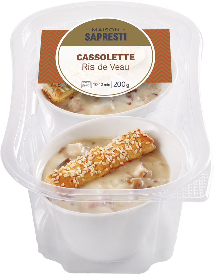 CASSOLETTES OF VEAL SWEETBREADS