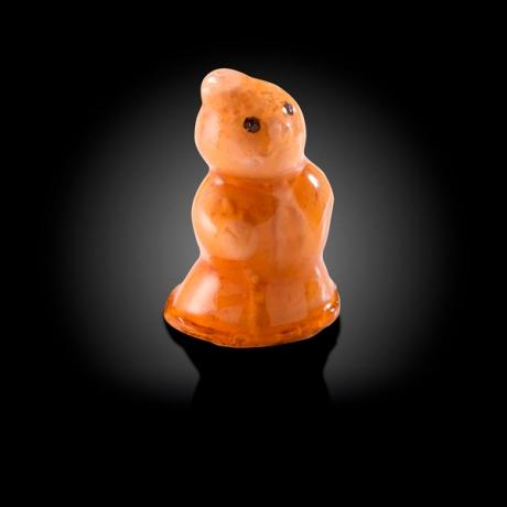 Mousse pur canard en forme de bonhomme de neige